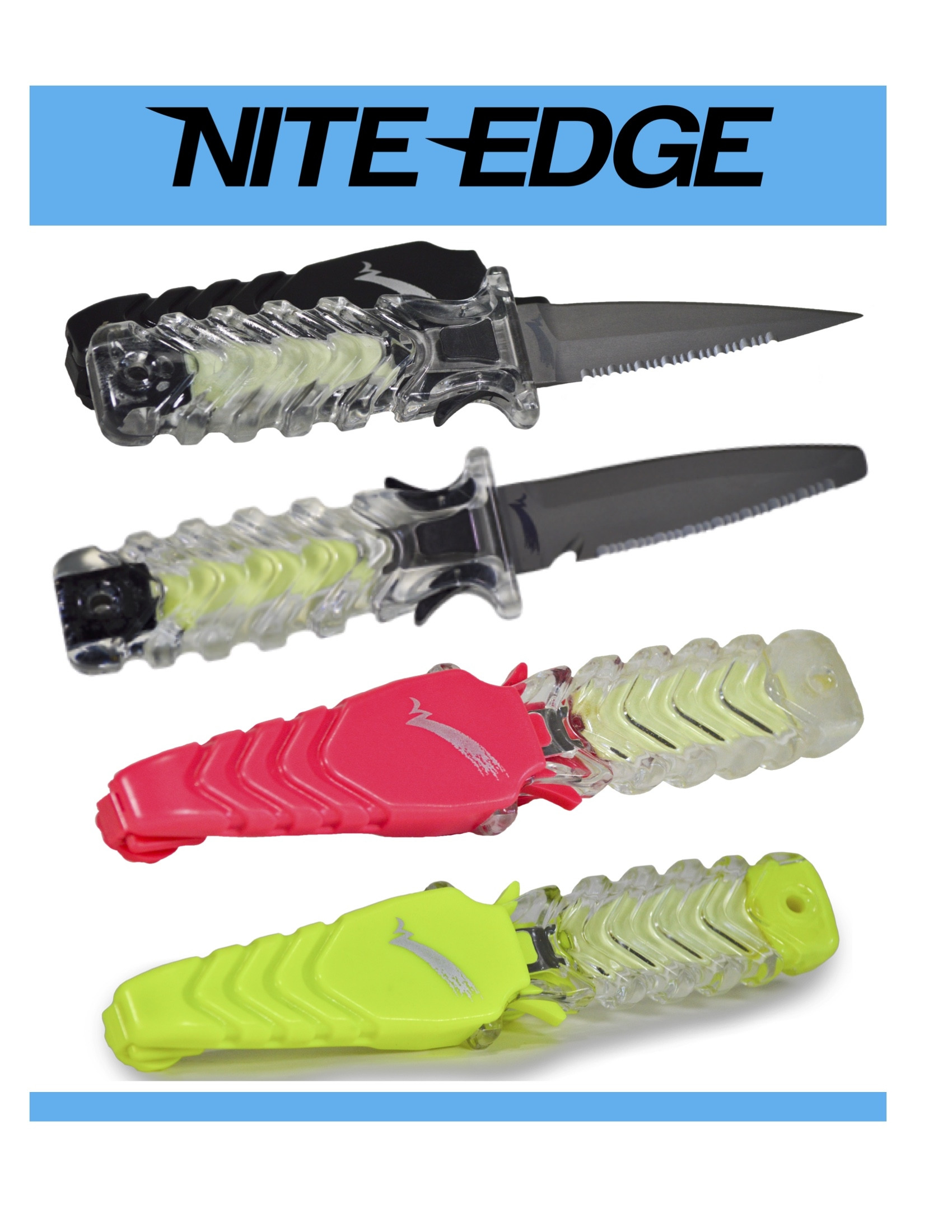 WATERMARK NITE-EDGE™ Glow-in-the-Dark Titanium Knife