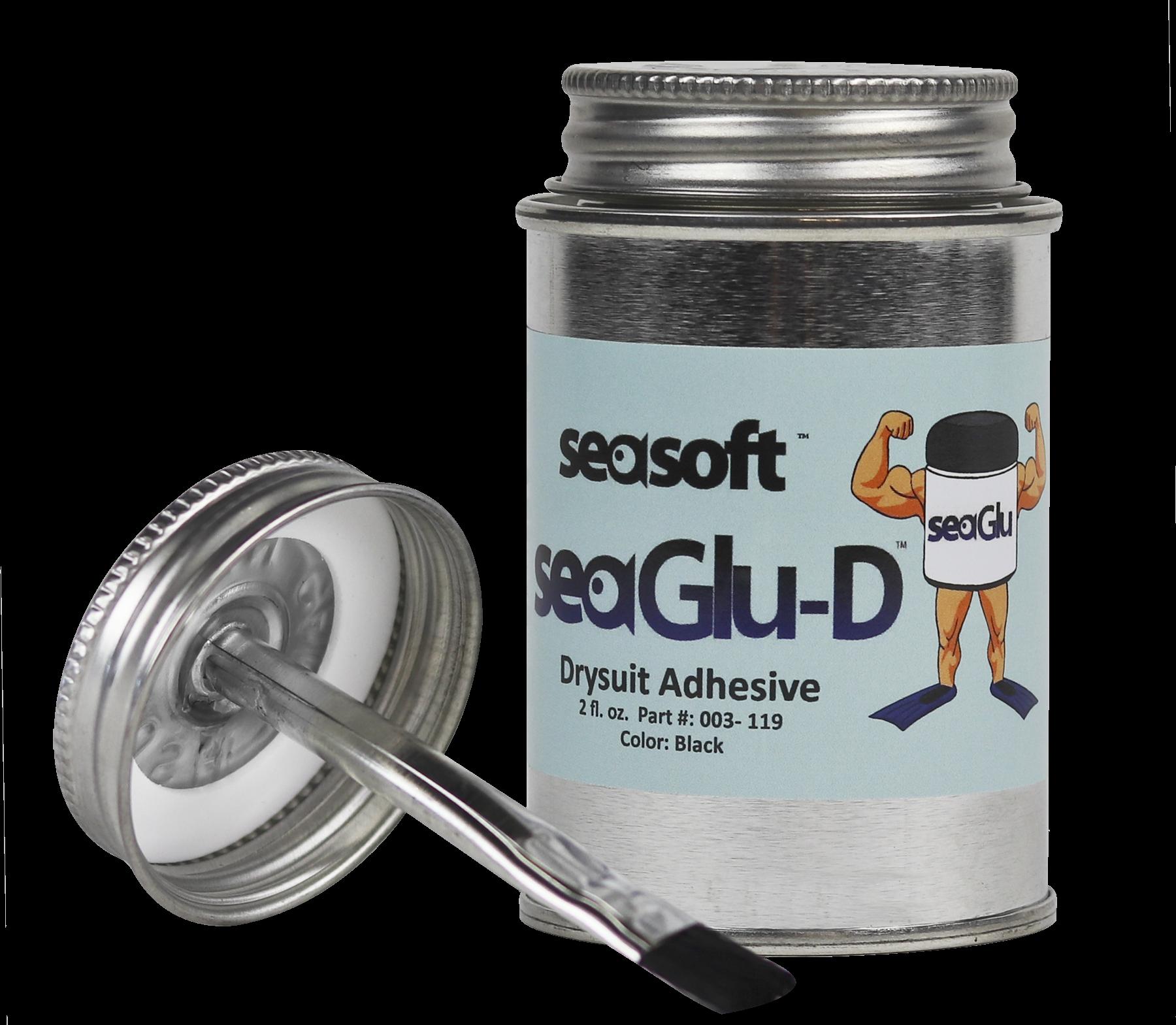SEASOFT's SeaGLU-D™  2 oz. & 8 oz. Drysuit Adhesive
