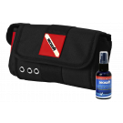 SEASOFT's DELUXE SOFT MASK CASE with included 2 oz. SEAVUE Anti-fog Spray